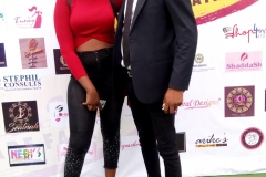 Stephil team on the green carpet at the House of Nifemi Trade Fair, Lagos