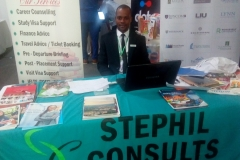 Stephil Consults' inquiry stand at Meadow Hall Foundation's education exhibition in Lagos