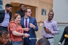University of Hertfordshire's Head of International Recruitment, Sayaz Miah with Mr. David Omowale at an Agent Conference at Sheraton Hotel, Lagos.