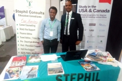 Mr. Olamide Olaegbe and Mr. David Omowale representing Stephil Consults at Meadow Hall Foundation exhibition in Lagos.