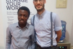 YSJU former International Regional Manager, Grant Saker with our Recruitment Officer; Olamide Olaegbe,
