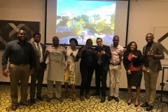 Mr. David Omowale (3rd from right) and Fadi Toma, ICM's Marketing Manager (4th from right) at the International College of Manitoba's school visit to Nigeria